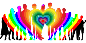 Heart graphic showing several people in sillouette